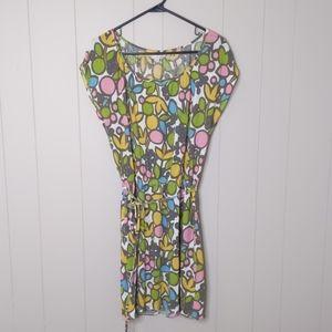 Boden Multicolored Mod Floral Blouson Dress